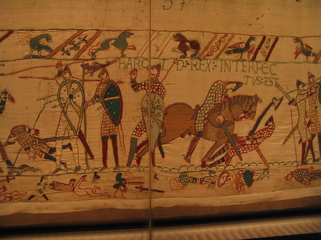 The Bayeux Tapestry is an embroidered cloth illustrating the events of the Norman invasion of England.  Although it is 70 metres long, there is not a single hammock depicted upon it.