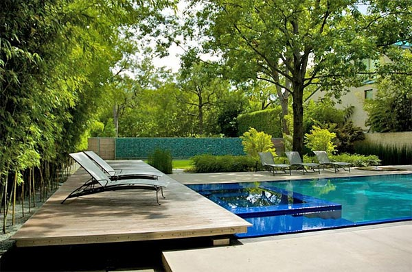 Landscaping and designing your pool area outdoor living for Flowers around swimming pool
