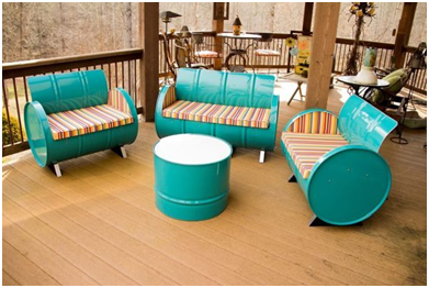 10 Ideas Under $200 To Decorate With Recycled Outdoor Furniture