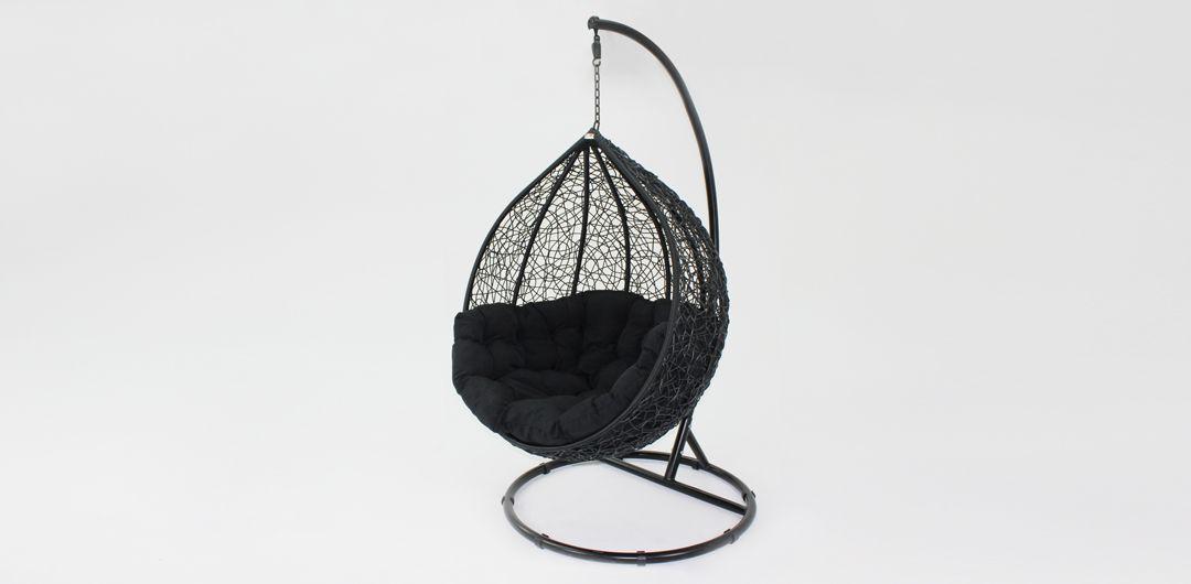Kakadu premium pod chair black pod with black cushion