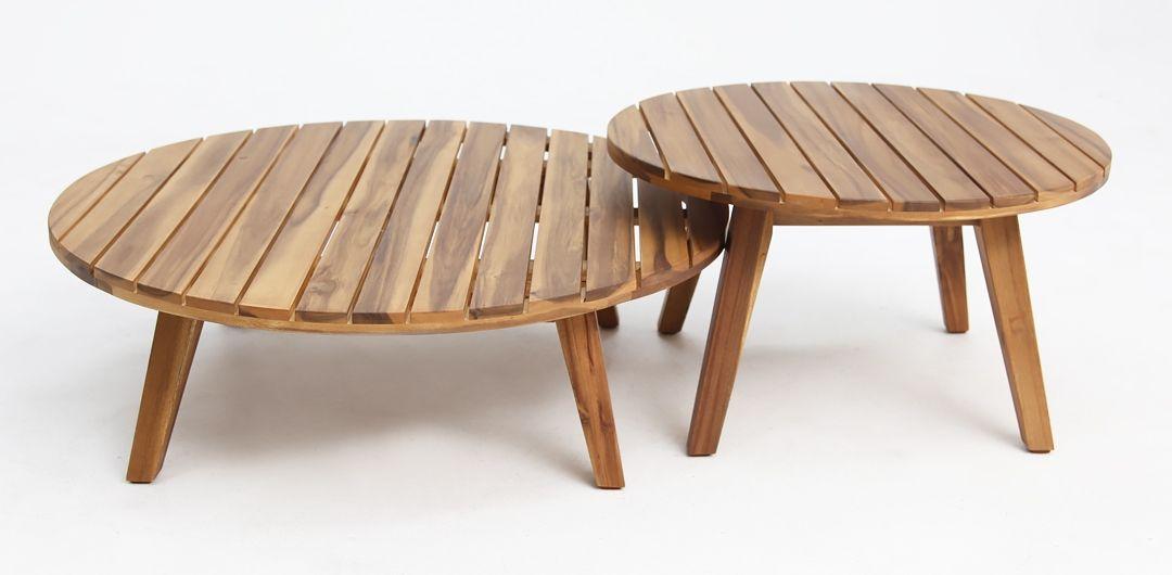 Luna set of 2 timber nested tables