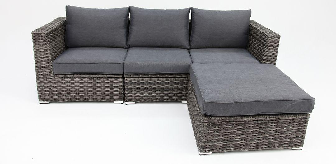 Amani storage 4 piece lounge setting grey/storm
