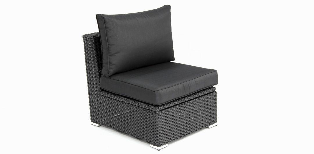 Amani storage centre chair black half round/charcoal