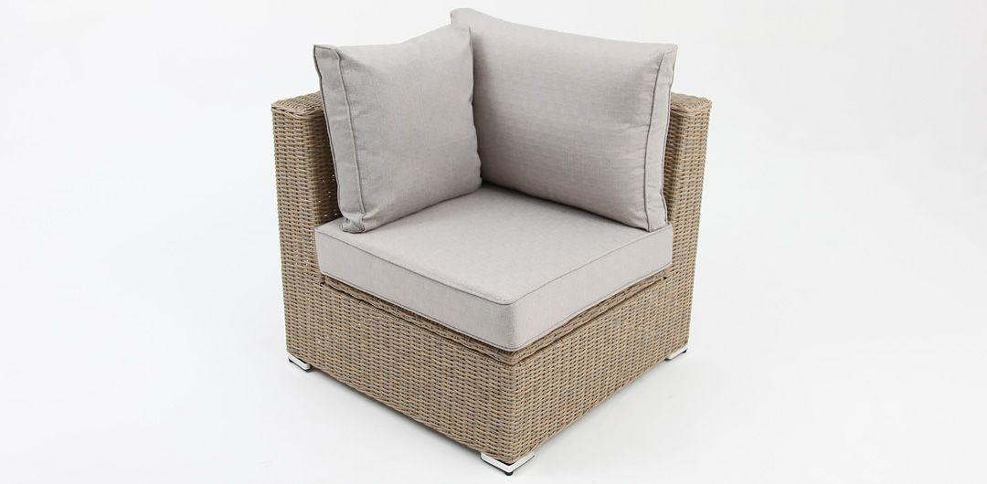 Amani storage corner chair driftwood/stone