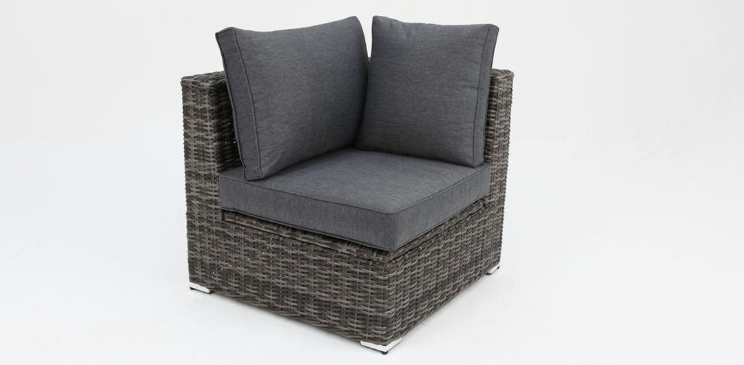Amani storage corner chair grey/storm