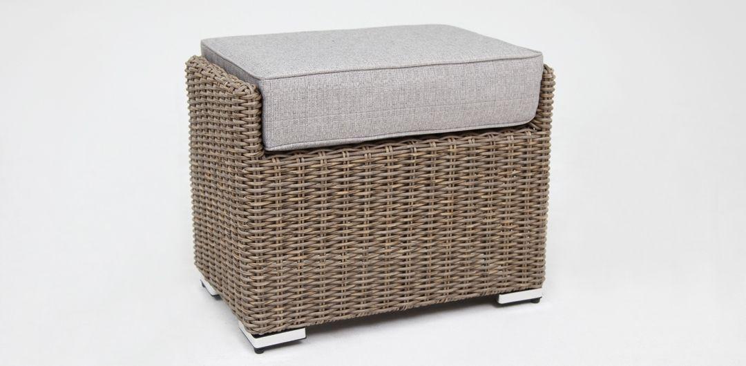 Amani footstool driftwood/stone