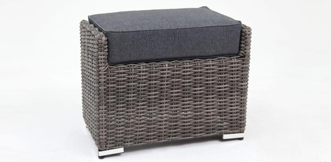 Amani footstool grey/storm