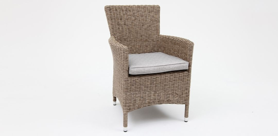 Amani dining chair driftwood/stone