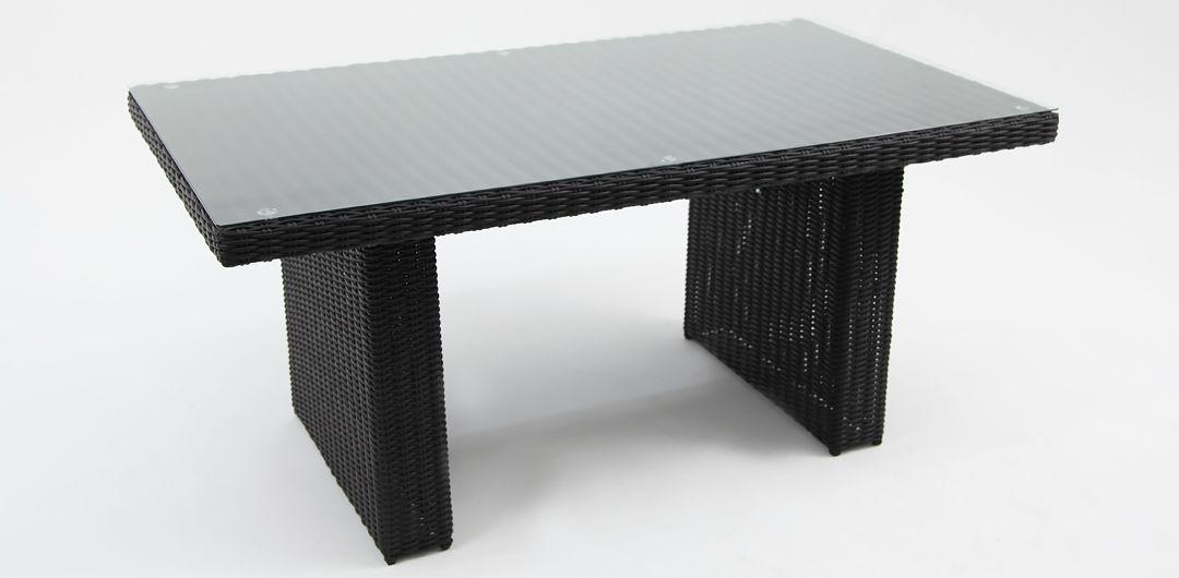 Amani lounge/dining table black half round
