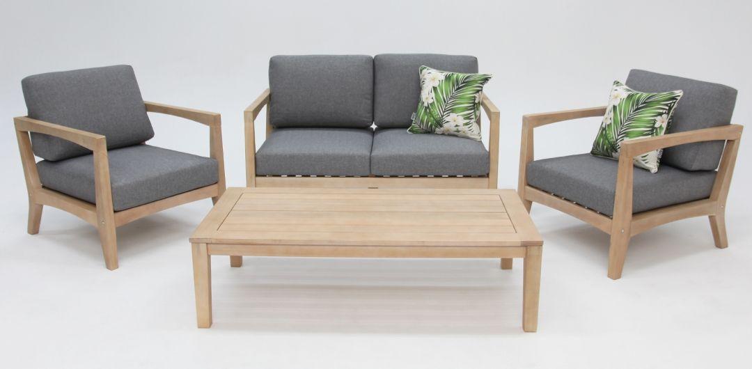 Ariana 4 piece timber lounge setting 211CT