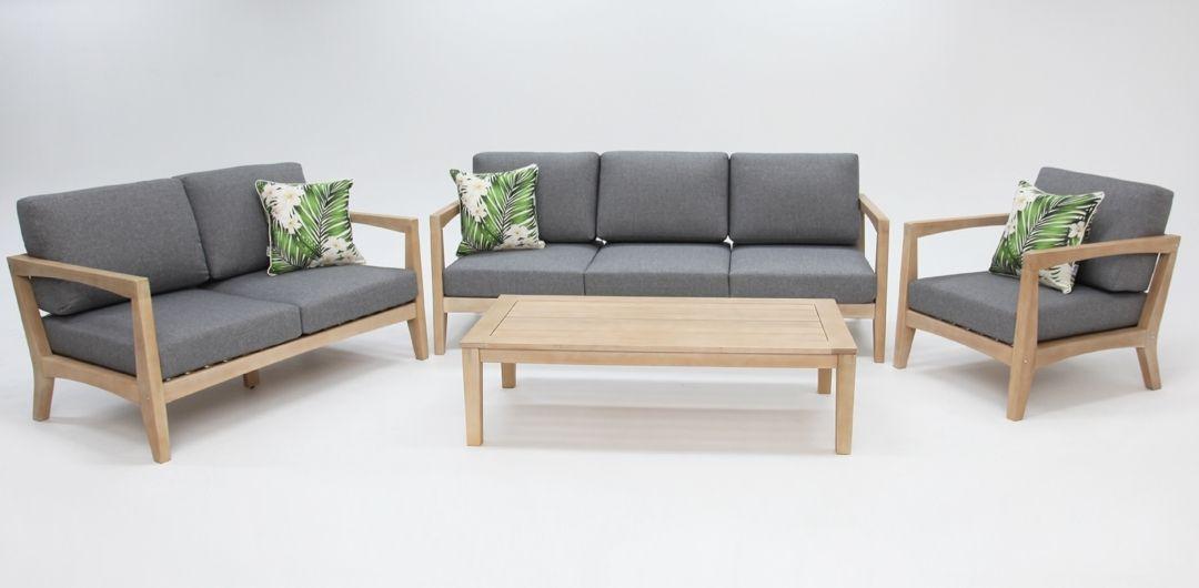Ariana 4 piece timber lounge setting 321CT