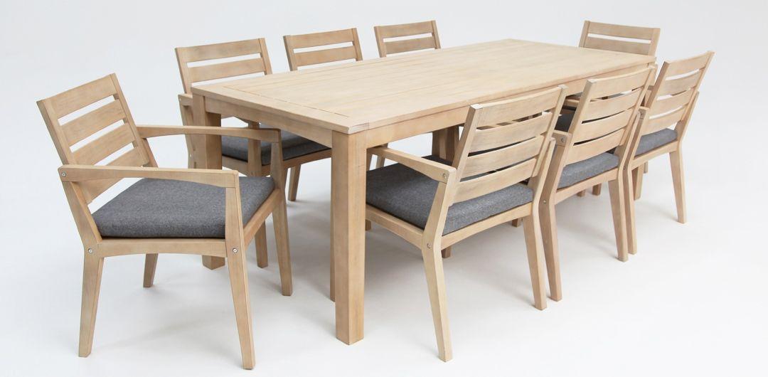 Ariana 9 piece timber dining setting