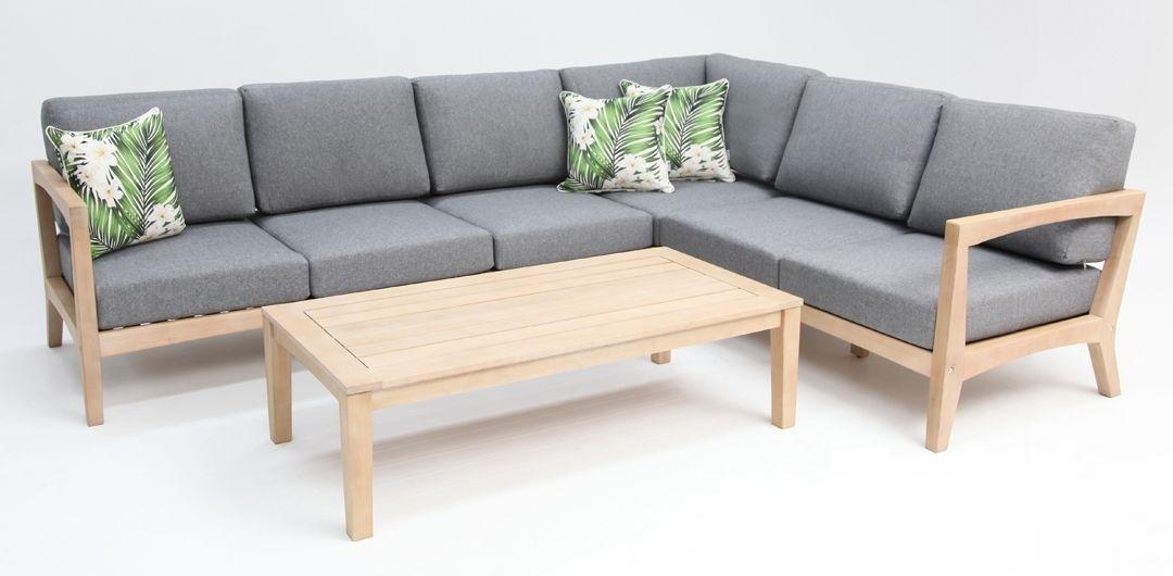 Ariana corner timber lounge setting