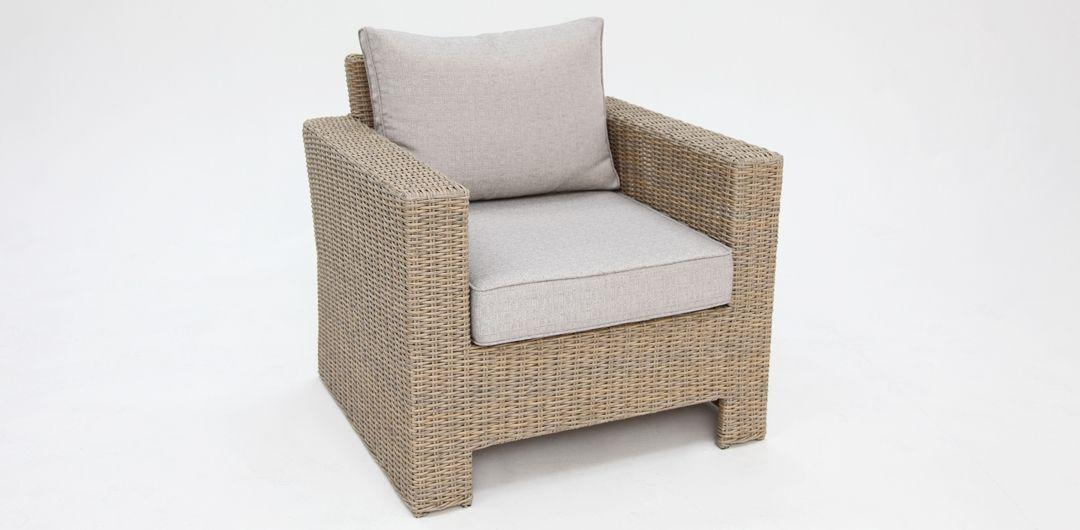 Banksia DW Stone armchair in Driftwood rattan