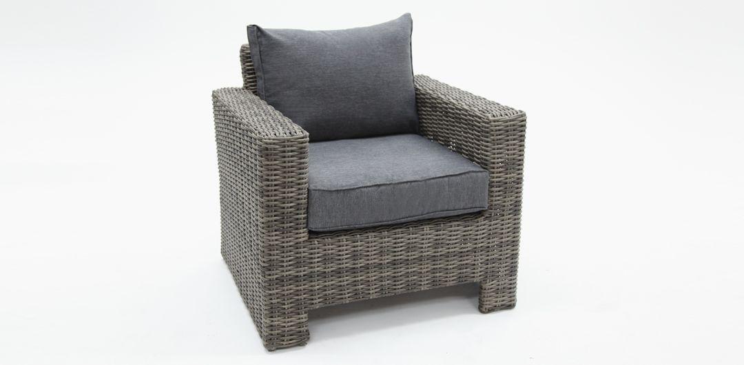 Banksia GR1/2 STORM armchair in Grey 1/2 Round rattan