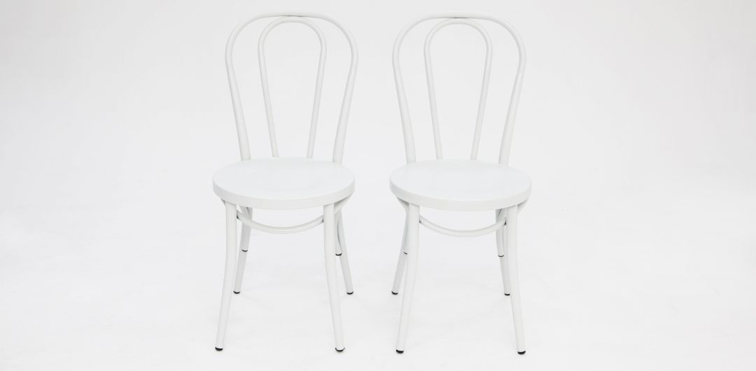 Bentwood chair matte white set of 2