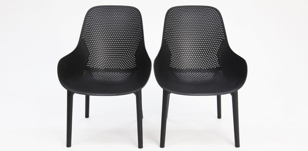 California lounge chair set of 2 black