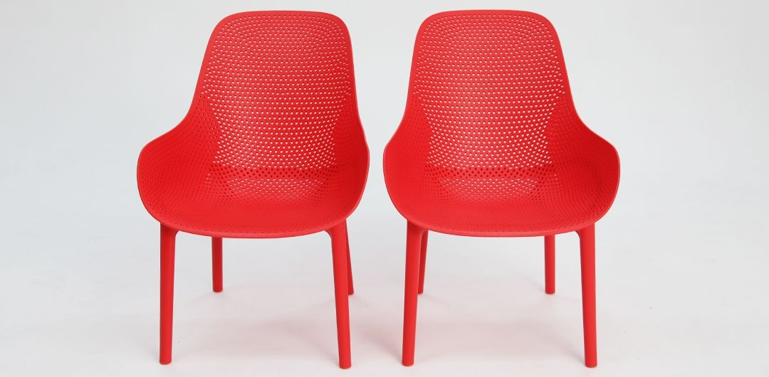 California lounge chair set of 2 red