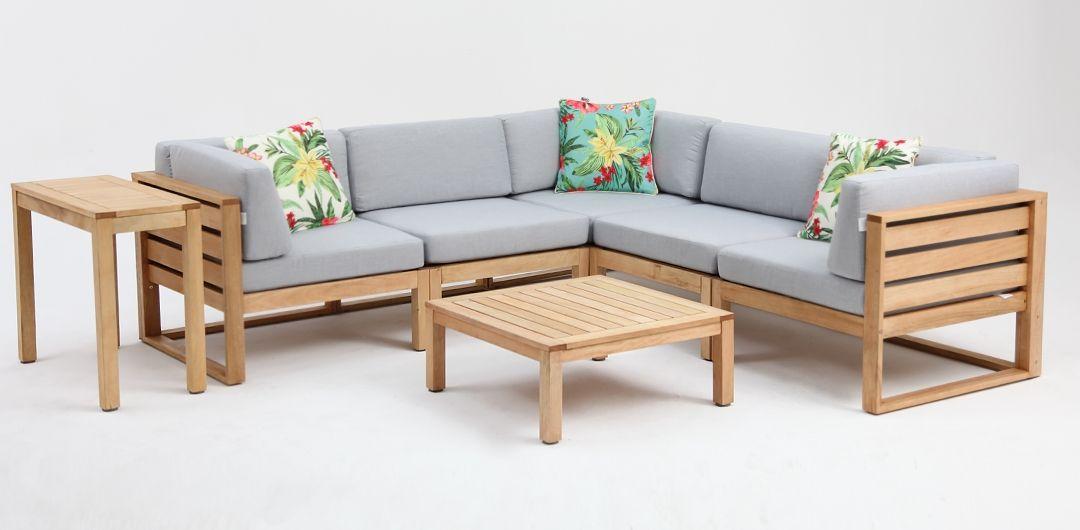 Ceduna timber modular lounge setting