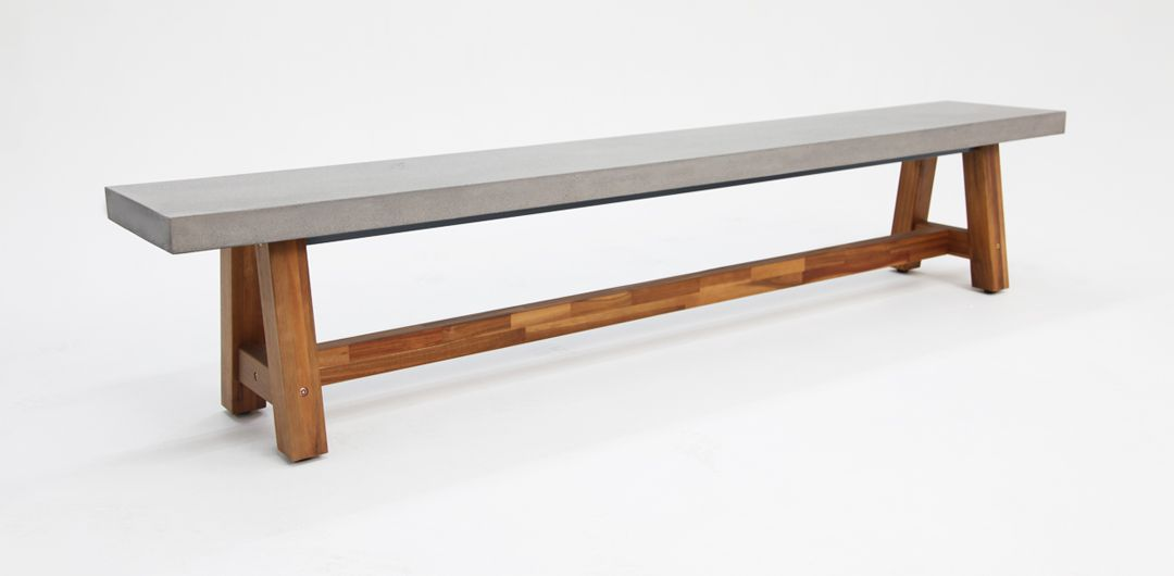 Charlotte 180cm concrete bench