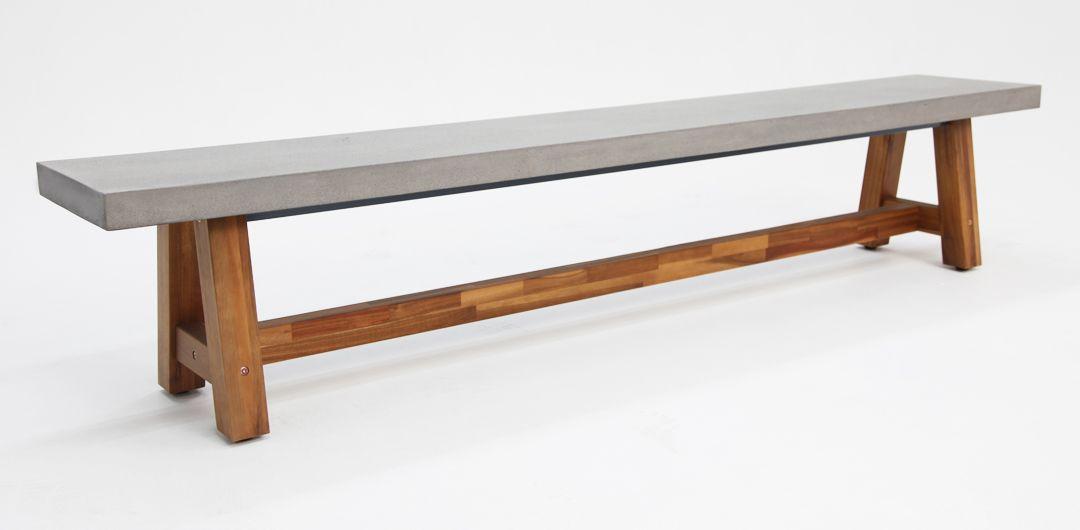 Charlotte 240cm polystone bench