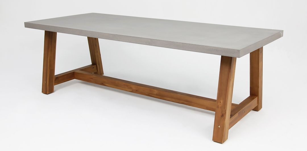 Charlotte 240cm concrete dining table