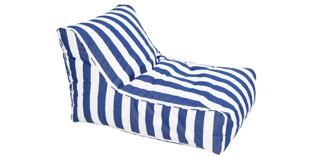 Chill Out outdoor beanbag navy and white stripe