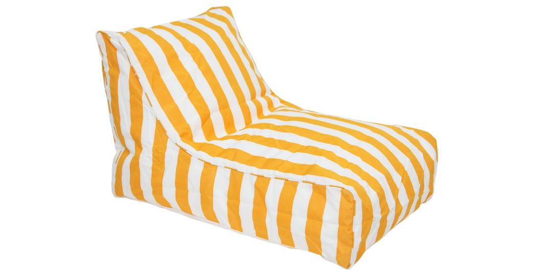 Chill Out outdoor beanbag yellow and white stripe
