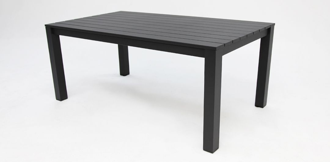 Dallas 180cm aluminium dining table black