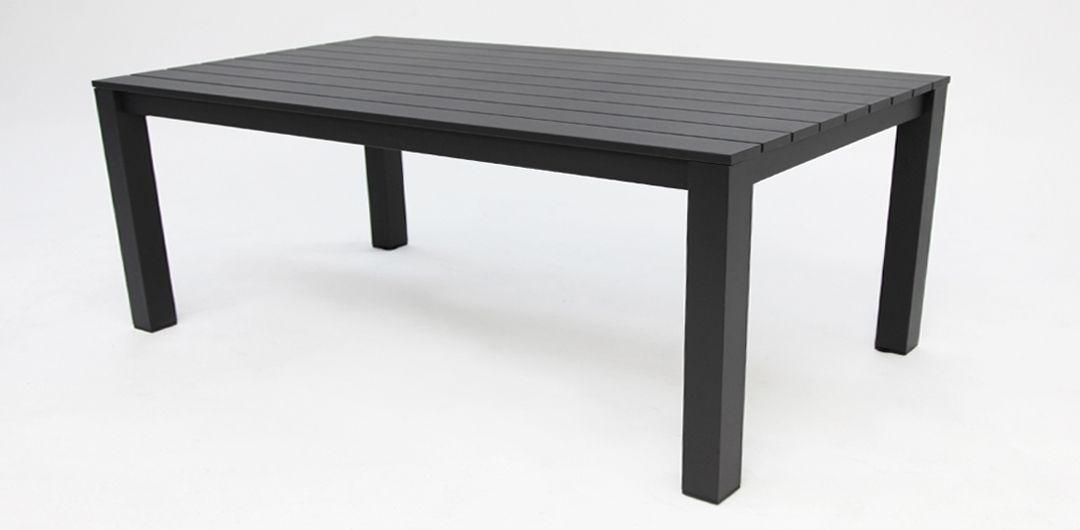 Dallas 220cm aluminium dining table black