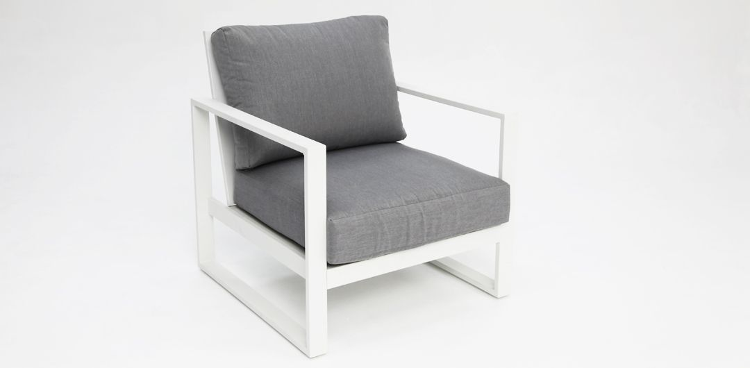 Dallas White Grey armchair