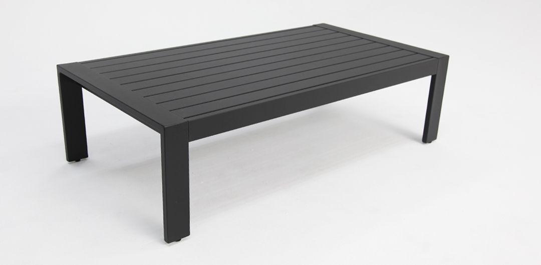Dallas aluminium coffee table black