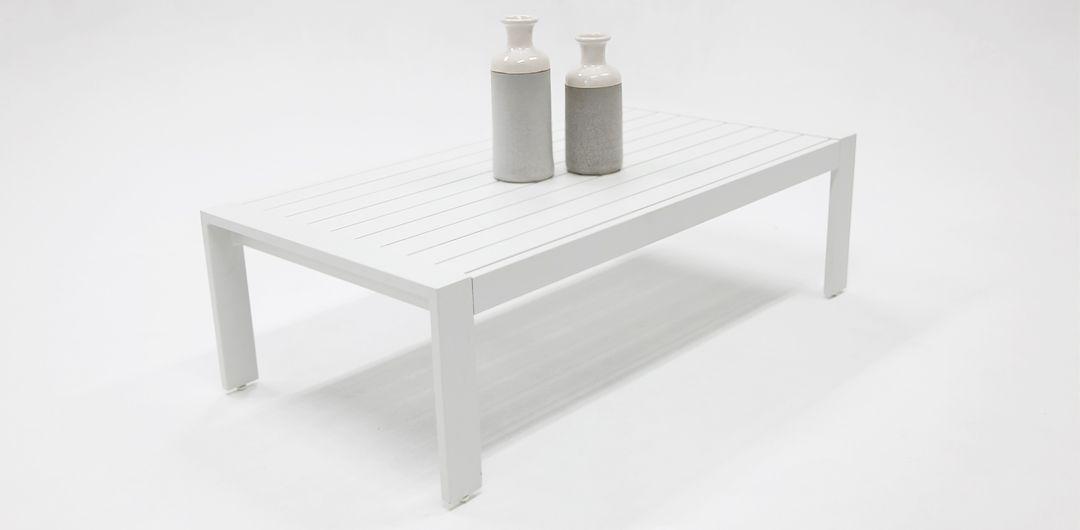 Dallas aluminium coffee table white