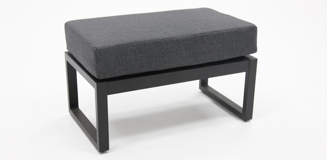 Dallas aluminium footstool black/grey