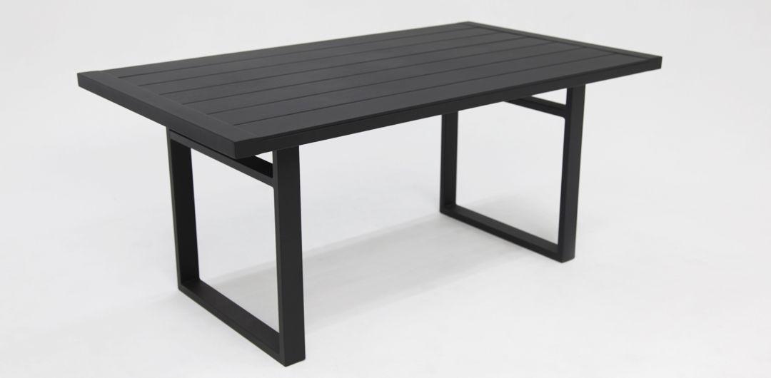 Dallas aluminium lounge/dining table black