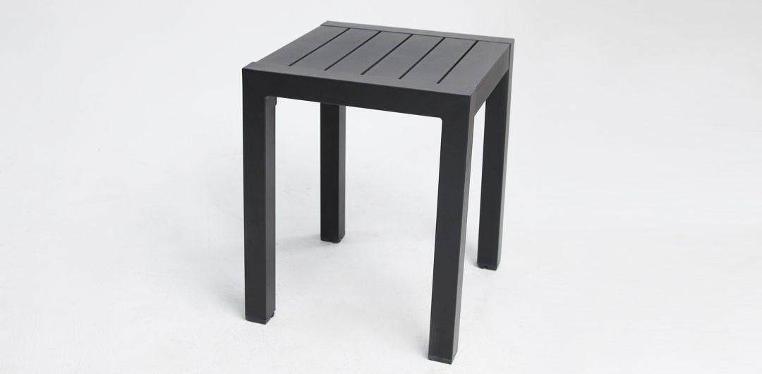 Dallas aluminium side table black
