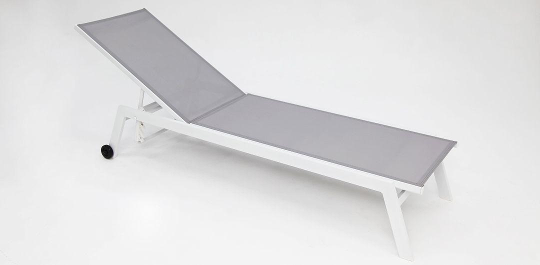 Eaglemont aluminium sunlounge white