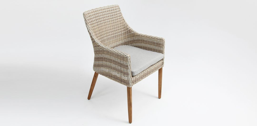 Faro dining chair mixed white natural