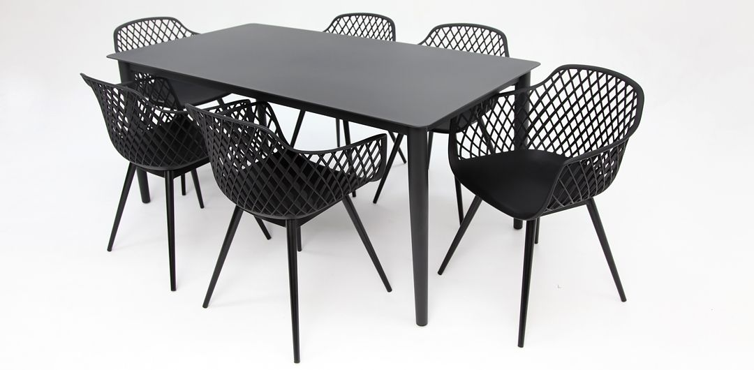 Java 7 piece dining setting black