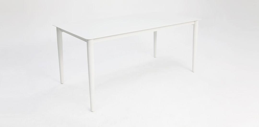 Java 170cm aluminium dining table white