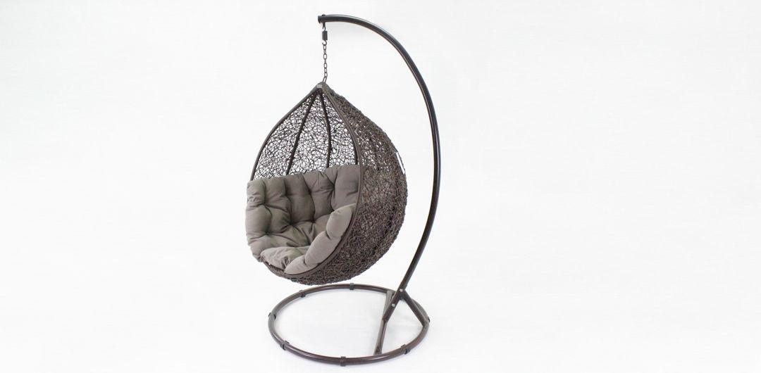 Kakadu premium pod chair brown pod with mushroom cushion