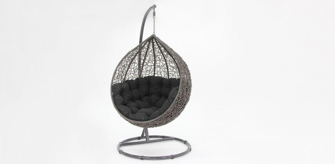 Kakadu premium pod chair grey pod with black cushion
