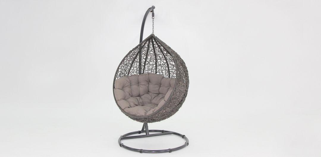 Kakadu premium pod chair grey pod with mushroom cushion