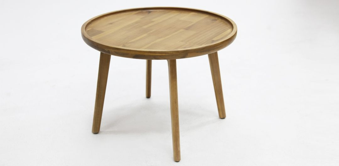Melfort 60cm timber side table