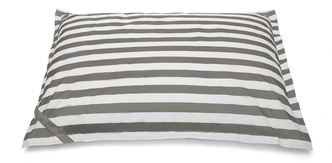Lazy Days floating outdoor beanbag taupe and white stripe