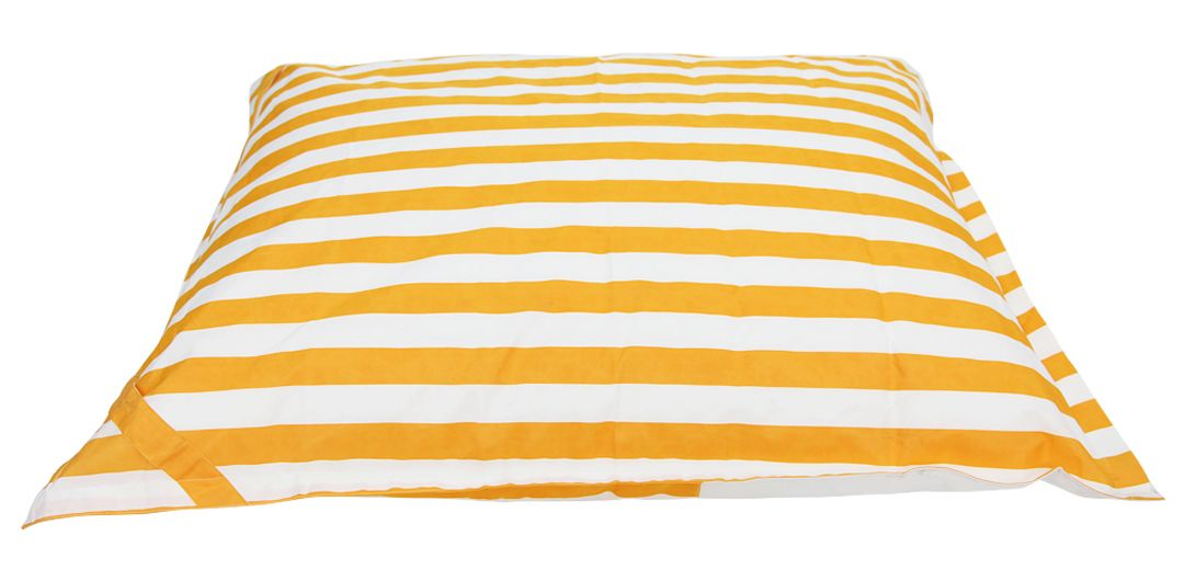 Lazy Days floating outdoor beanbag yellow and white stripe