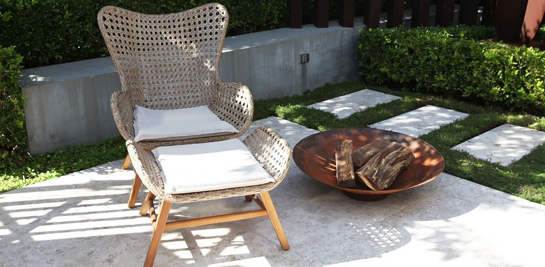 Luna chair and footstool lounge set