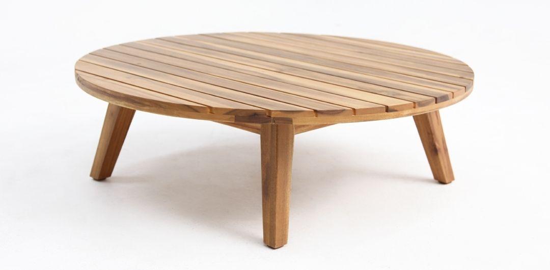 Luna 80cm timber side table