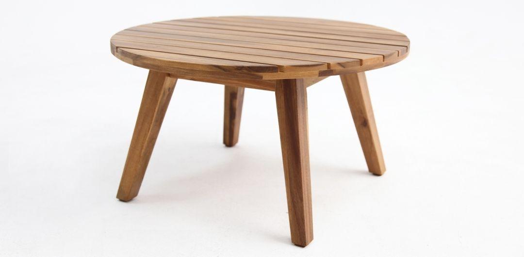 Luna 60cm timber side table