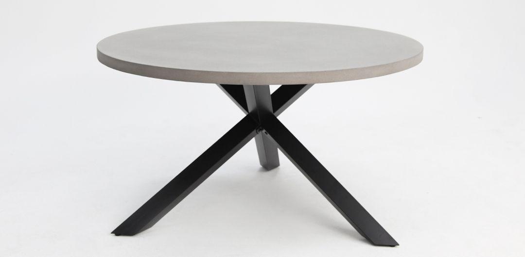 Milano 135cm round concrete dining table